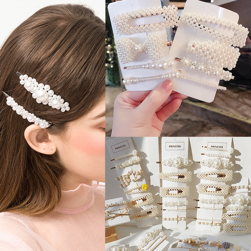 2019 Korean Hair Pins Clip For Women Fashion Jewelry Imitation Pearl Barrette Set Bridal Wedding Hair Accessories Gift Wholesale|Hair Jewelry| |  - AliExpress