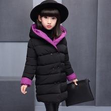 Зимние куртки; пальто для девочек; детская парка с капюшоном; одежда подростка; пальто; детский плотный длинный зимний комбинезон; стеганая детская одежда для девочек