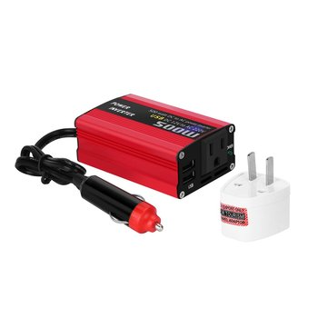 DC 12V to 110V 220V AC Car Inverter Automatic Transformer With Dual USB Car Adapter 500W DC to AC Power Converter multifunction 12v dc to 220v ac car power inverter black red