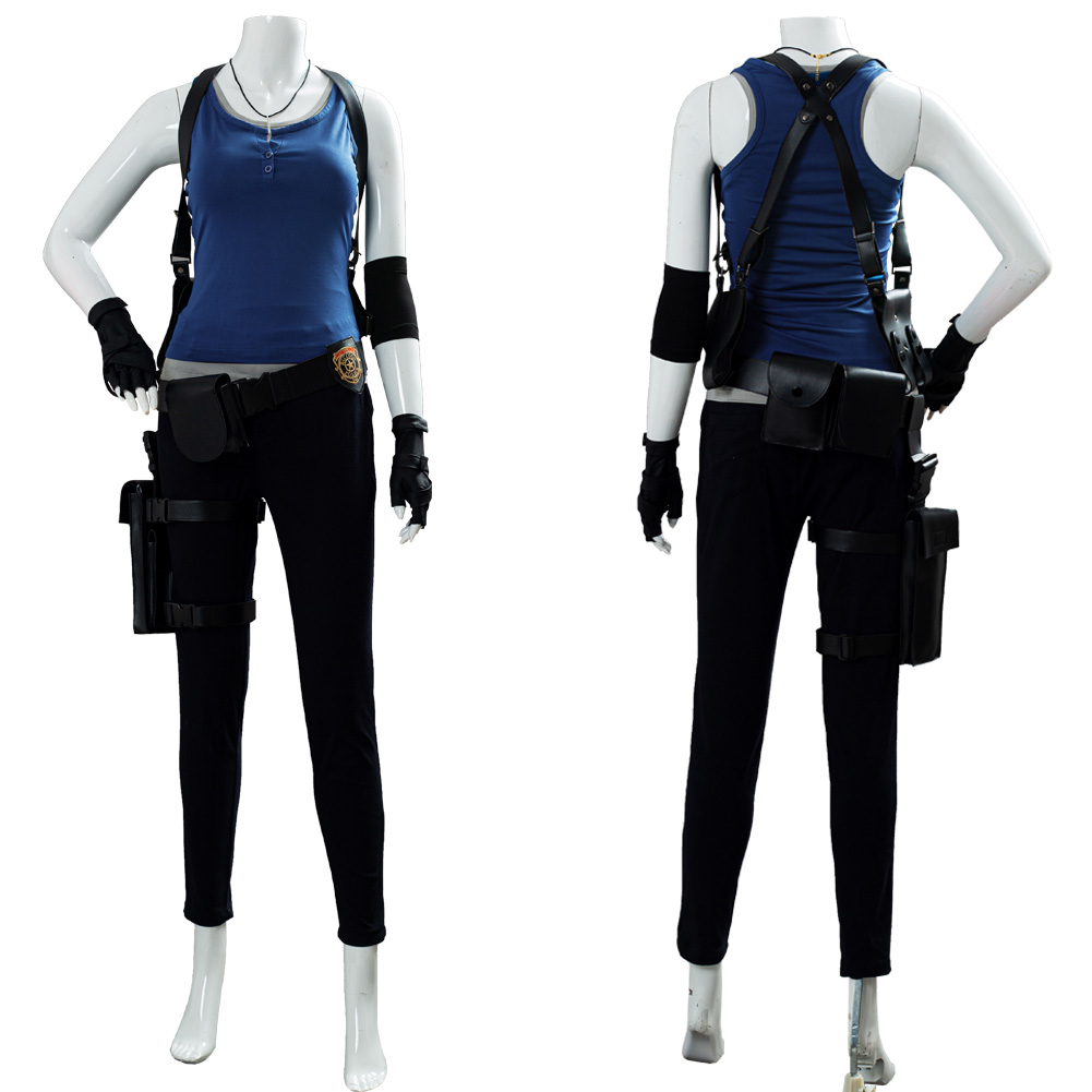 Resident Cosplay Evil Jill Valentine Cosplay Costume Women Girl Vest Pant Accessories image