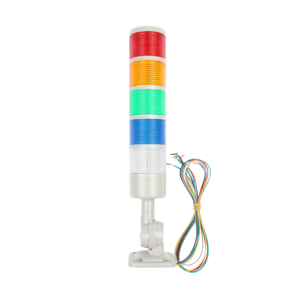 5 Layers Rotatable 180 Stack Light Red Warning Light Industrial For CNC Machine DC 24V 12V AC220V 110V Steady Flashing Light LED