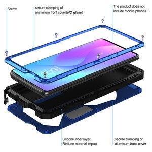 Image 2 - ل Xiaomi K20 برو جراب هاتف معدن الألمنيوم الصلب الثقيلة غطاء للحماية ل Xiaomi K20 برو مع الزجاج هدية
