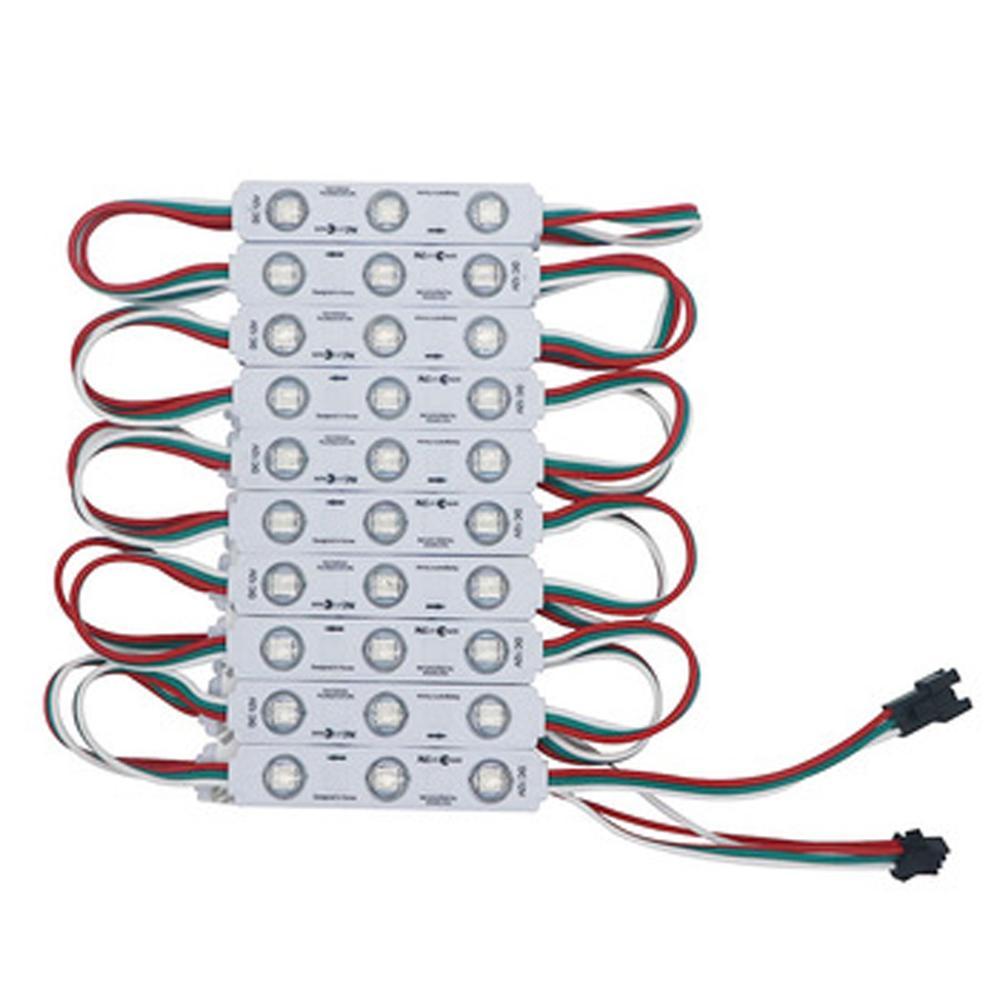 20pcs WS2811 12V 5050 RGB 3 SMD Pixel LED Module IC Individual Addressable Light