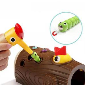 Image 3 - ベビー玩具新木製磁気釣りゲーム色 Cogniton 早期学習教育のおもちゃキッズギフト屋外おもちゃセット