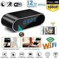 Mini cámara DVR V380 Pro HD 1080P, reloj con cámara inalámbrica, WIFI, micro Cámara IR con alarma nocturna, reloj Digital, vídeo