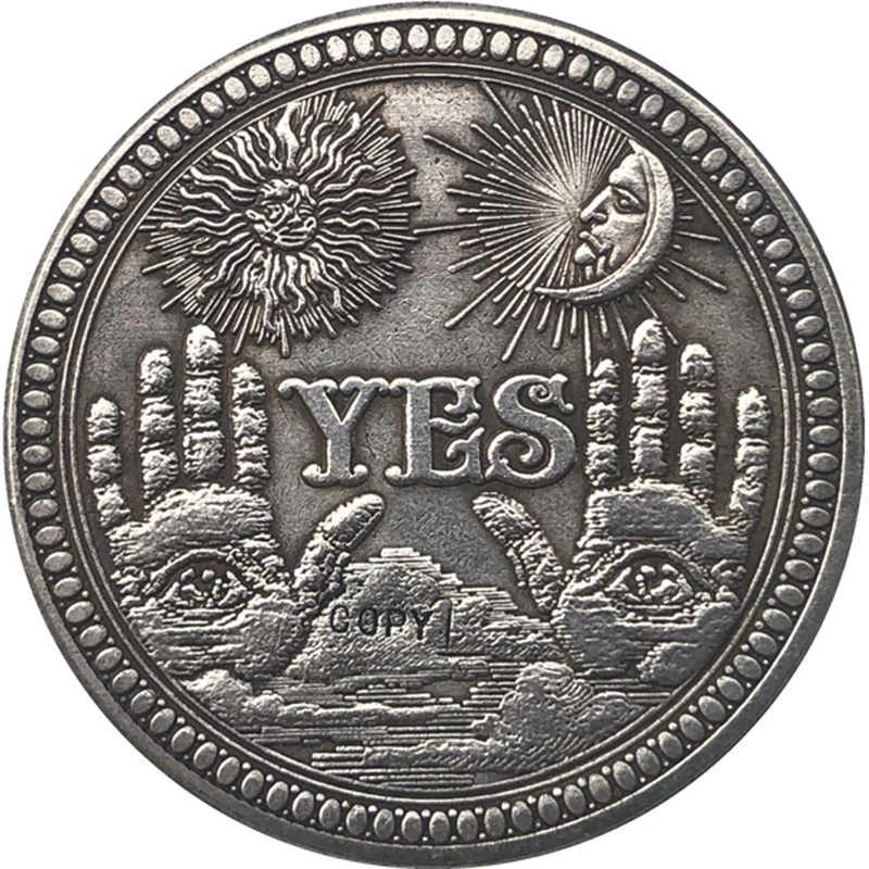 Hobo Nikkel Vs Morgan Dollar Munt Copy Type