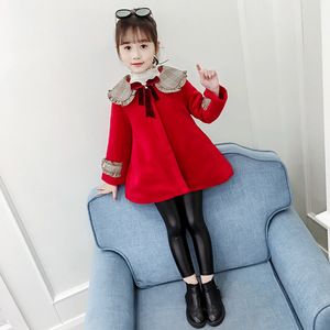 Image 5 - 3Color Girls Winter Warm Coats&Jacket,Children Winter High quality Solid Long sleeve Wool coat,Baby Girls Outwear For 3 8Yrs