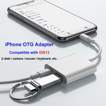 Adaptador IOS13 OTG para iPhone 11 XR X XS 8/7 iPad Pro iluminación a USB 500mA para disco U/teclado/cámara Digital/micrófono(China)