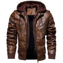 Зимняя мужская куртка, военная верхняя одежда, флисовые Тактические Кожаные куртки, мужские Модные байкерские мотоциклетные пальто из иску...