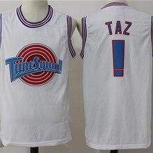 Классический Космический Джем фильм версия Nike Air Jordan Taz#! Майка с вышивкой баскетбольная форма белый