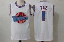 Classic Space Jam Film Version Nike Air Jordan Taz #! Embroidered Jersey Basketball Wear White(China)