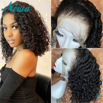 Newa Hair 360 Lace Frontal Wig With Baby Hair Short Human Hair Bob Wigs For Black Women Brazilian Remy Hair Lace Wigs 150%/180%