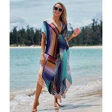 Женское богемное платье макси длинное яркое пляжное большого
