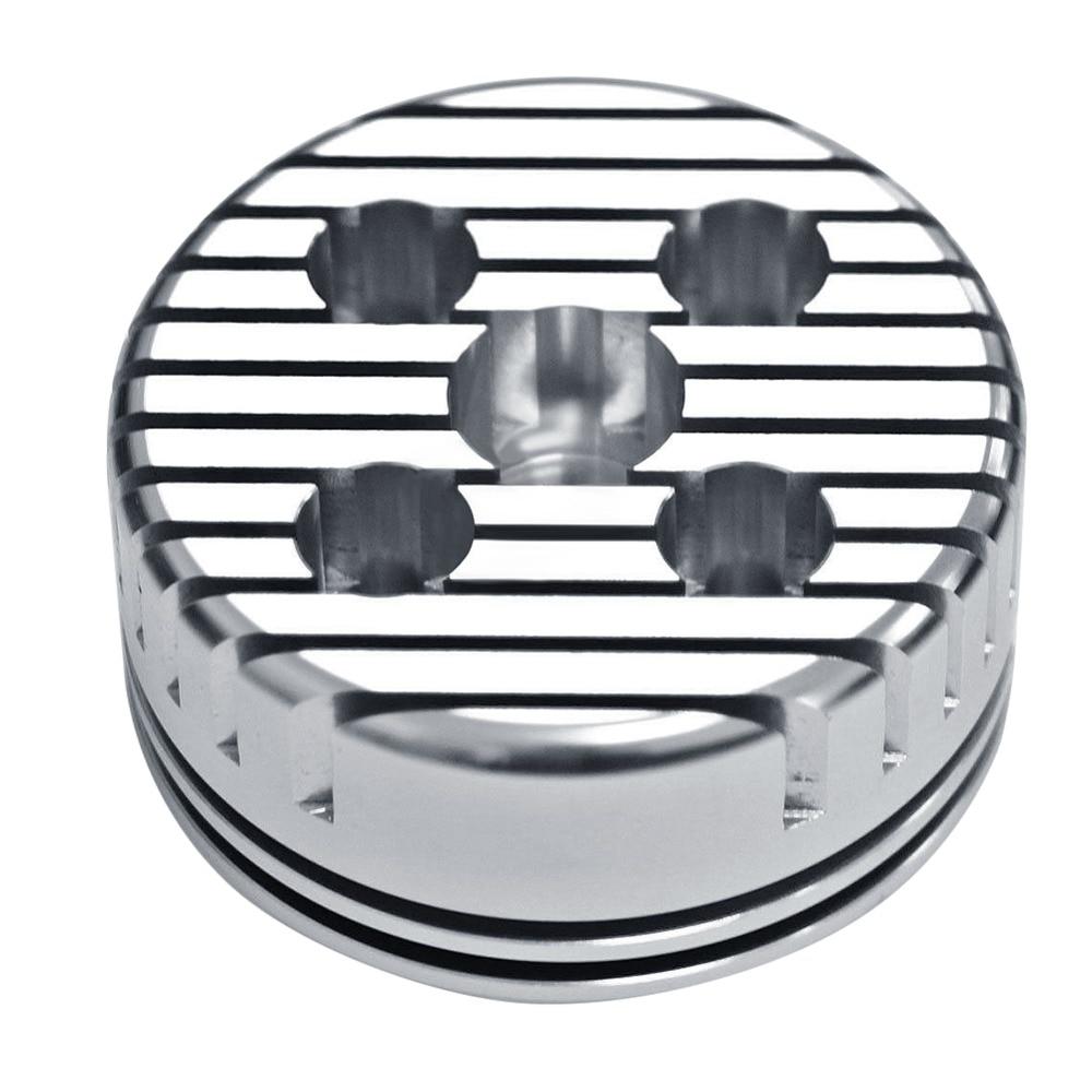 Novo 1 pçs prata cinza corrida cnc ciclo de substituição da cabeça do cilindro alta qualidade apto para 66cc 80cc gás motorizado bicicleta redonda