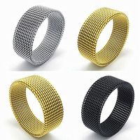 Wholesale Mix Lots 20pcs finger ring good quality Silver Gold Black Stainless Steel Rings for Men Women