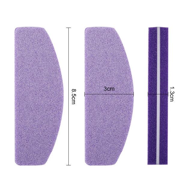 5 Pcs/Set Professional Nail File Colorful Sponge Sanding Grinding Nail Files Nail Shaping DIY Nail Art Tools 8 Colors