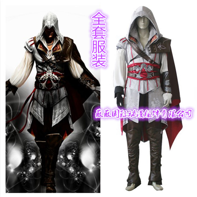 Game Characters Ezio Auditore Cosplay Costume Kids Men Clothes Sets Ezio Enfant Halloween Costume Cosplay Ezio Auditore Shoes