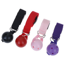 NEW Lingerie Sex Leather Strap Sex Toys Fetish Bondage Open Mouth Silicone Ball Gag Breathable Red Black Ball Erotic Accessories(China)