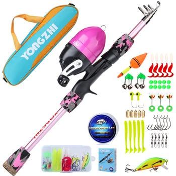 Kids Starter Fishing Kit combo set tackle kit 5 colours