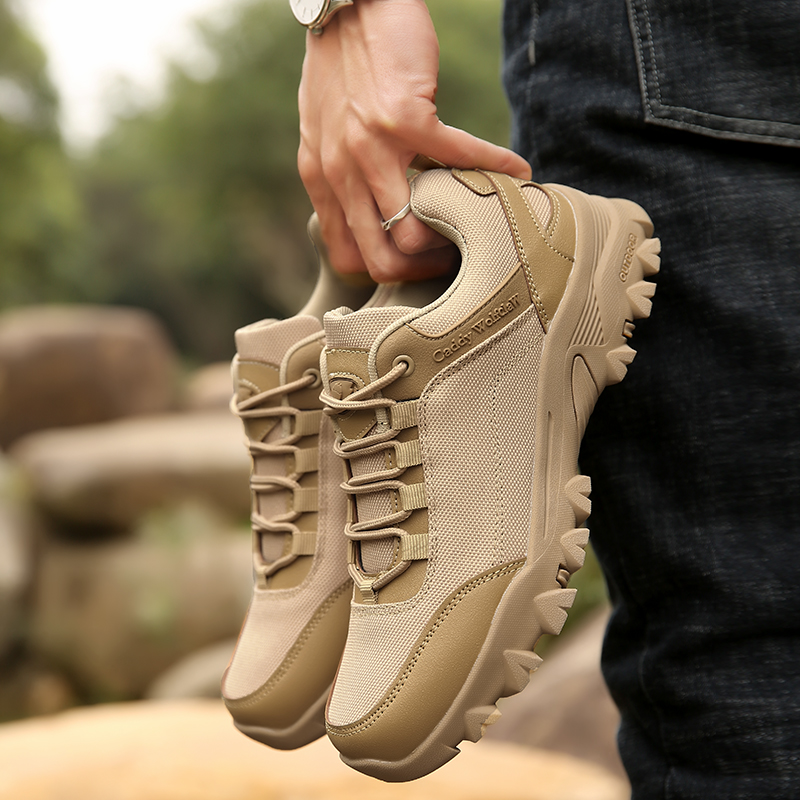 Men Mountain Trekking Shoes Plus Size 48 Sneakers Men Breathable Camping Fishing Hunting Shoes Outdoor Boots Man Tactical Army