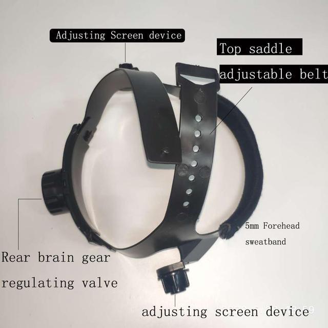 Dust Proof Welding Helmet Solder Masks Face Eye Protective Shield Anti-UV Anti-Saliva Shock Safety Masks Full Face Shield Mask 3