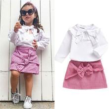 1-5 Years Toddler Kid Baby Girl Clothes Sets Bow Not White T