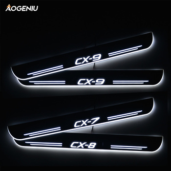 LED Door Sill Streamed Light For Mazda CX-7 CX7 ER CX-8 CX8 KG CX-9 CX9 TB Acrylic Door Sills Scuff Plate Pedal Car Accessories led door sill for suzuki swift 2015 2016 2017 2018 streamed light scuff plate acrylic battery car door sills accessories