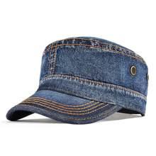 VOBOOM-Gorra vaquera de ejército para hombre, sombrero de cubo de algodón lavado, cabeza plana superior ajustable, visera, sombreros, 164