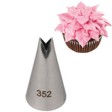 #352 folhas de rosa dicas de decoração de cupcake bicos de pastelaria fondant decorações dicas de folha bakeware bicos de tubulação de aço inoxidável