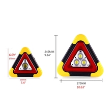 Multi Function Triangle Warning Sign Car LED Work light Road Safety Emergency 090F