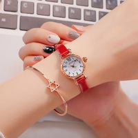 New Spring Flower Genuine Women's Leather strap Quartz Girls Lovely Beautiful Small Watches Famous Brand Luxury Lady Clock Gift