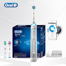 Oral b 9000 escova de dentes elétrica bluetooth tecnologia detecção posição 6 modo 12 cores smartring superior limpo escova de dentes