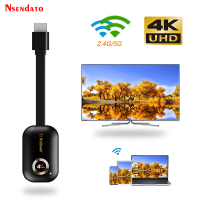 Mirascreen G9 Plus 2.4G/5G 4K Wireless H.265 HD Wifi Display Dongle per Miracast Airplay DLNA TV Stick per Android IOS a TV