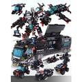 740+PCS Building Blocks 8 Mini Figures Robot City Police Toys Blocks Boys Educational Truck Blocks Model Bricks