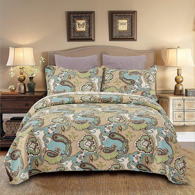 CHAUSUB покрывала хлопок одеяла для двуспальная кровать крышка наволочка одеяло набор 3 шт король королева Размер стеганые летние покрывала Одеяла      АлиЭкспресс