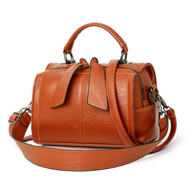 2020 New Women Leather Crossbody Bag Small Messenger Bags Lady Cute Handbags Girls Shoulder Bag Bolsas Sac A Epaule Black Brown