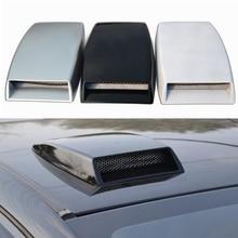 3 цвета, автомобильный Стайлинг, Универсальный декоративный воздушный поток, впускной ковш, турбо капот, вентиляционная крышка, капот, серебристый/белый/черный, автомобильный Стайлинг