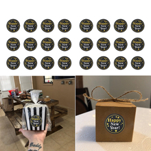 MEIDDING 60PCS Happy New Year Paper Sticker 2020 Party Gift Box Seal Lable Decoration For