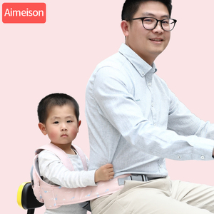 Image 5 - ילדי בטיחות אופנוע מושב חגורת בחזרה להחזיק מגן משקף אפוד חגורת מתכוונן ילדים רכב בטוח רצועת מוביל לרתום