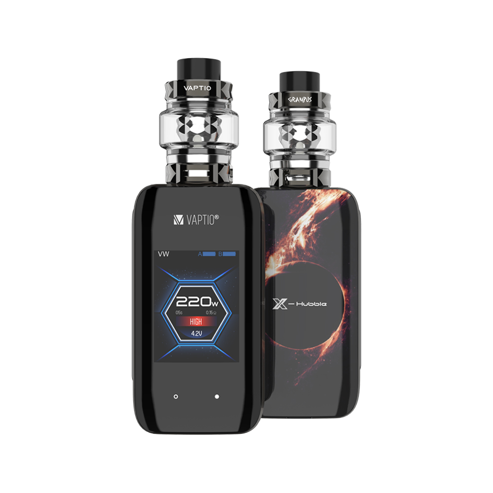 New Arrival ! Vaptio X-HUBBLE GRAMPUS KIT Vape Kit Electronic Cigarettes 220W 5.0ml Atomizer 2 *18650 Batteries 2 Inch Screen