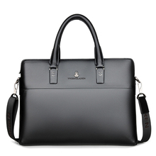 Leather Men's Bag Business Casual Portable Briefcase First Layer Travel Laptop
