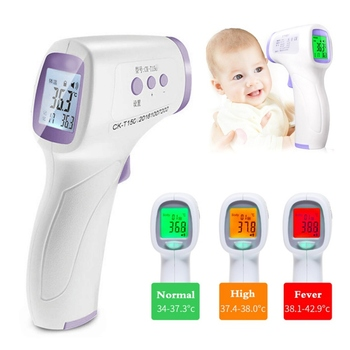 Non-Contact IR Infrared Thermometer Baby Thermometer Laser LCD Backlight Digital C/F Pyrometer Forhead Body Temperature Meter A