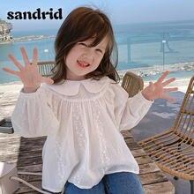 Рубашки sandrid для девочек осень/зима 2020 детская одежда модные