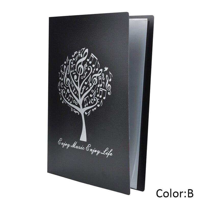 A4 Size Music Sheet File Folder Plastic Paper Documents Storage Holder 40 Pockets GY88