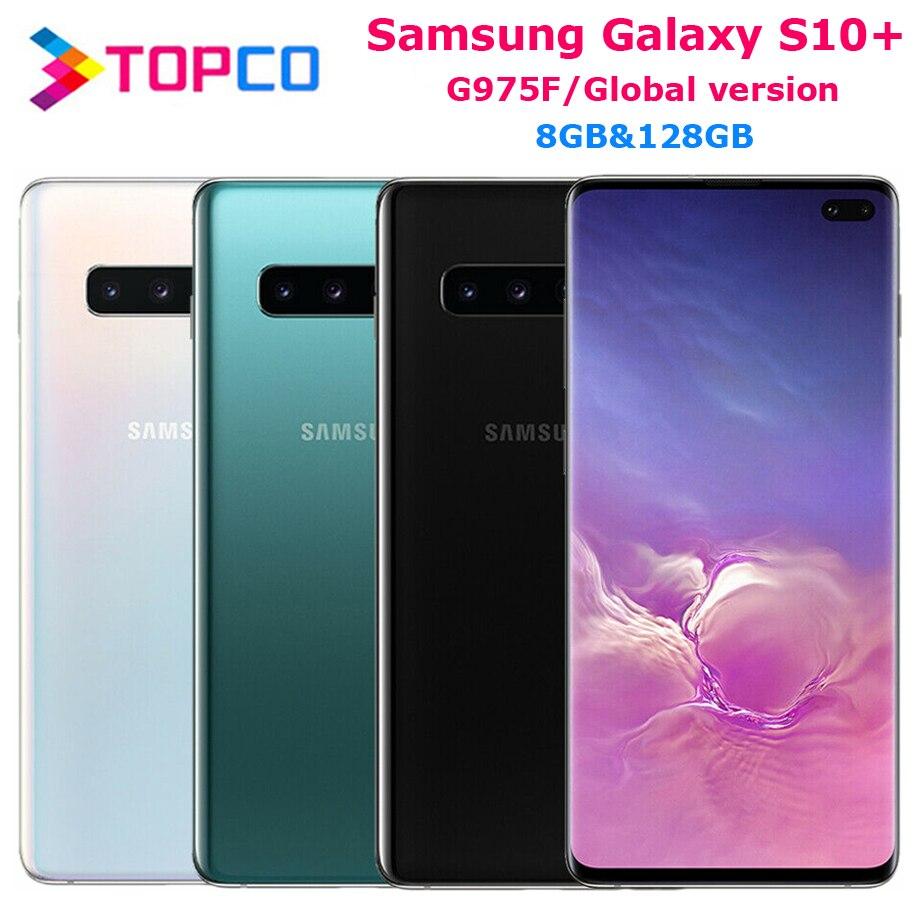 "Samsung Galaxy S10 + S10 PLUS G975F Global Version ปลดล็อกโทรศัพท์มือถือ OCTA Core 6.4 ""16MP & Dual 12MP 8GB และ 128GB ROM NFC"