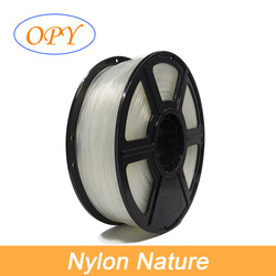 Cor transparente da natureza da poliamida do pa da impressora 3d do filamento de náilon 1kg amostra do rolo disponível força de alta elasticidade