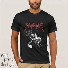 Estate t camisa di marca fitness edifício do corpo imperatore-rider rider t-camisa-tamanho grande l-metal preto-nuovo
