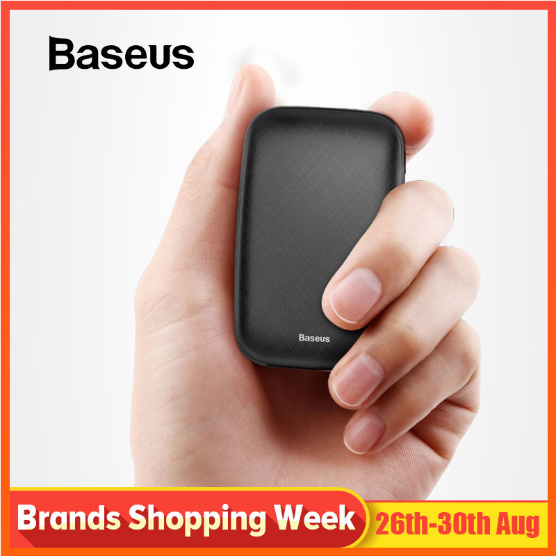 Baseus Mini Power Bank 10000mAh For iPhone X Xs Max Portable External Battery Pack Powerbank For Samsung S9 S8 Note9 Xiaomi MI 9 Гриль