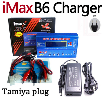 iMAX B6 80W with AC POWER 12v 5A Adapter RC +Tamiya T PLUG for Lipo NiMH NiCd Battery Balance charger 7 2v 250mah with tamiya connectors usb charger units for nicd nimh battery pack charger for toy rc car tank boat for ket 2p plug