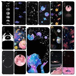 Чехол Yinuoda для телефона с изображением Луны, звезд, космоса, девушки, путешествий, самолета для Xiaomi Redmi Note 7, 8T, Redmi 5plus, 6A, Note8, 4X, Note8Pro